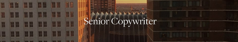 Senior Copywriter